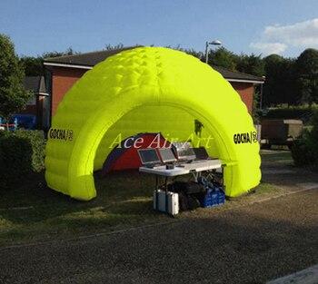 Dauerhaft Gelb Runde Leinwand Zelt Aufblasbare Kuppel Haus Für Camping Aufblasbare Runde Zelt Haus Für Verkauf