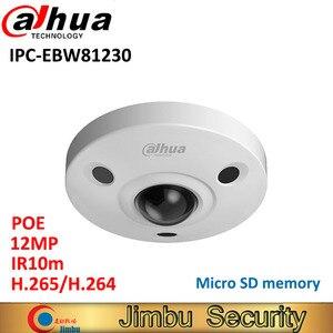 Dahua 12MP IP камера панорамная рыбий глаз IPC-EBW81230 H.265 Поддержка POE IR10m Водонепроницаемая IP67 мини камера Micro SD память IK10