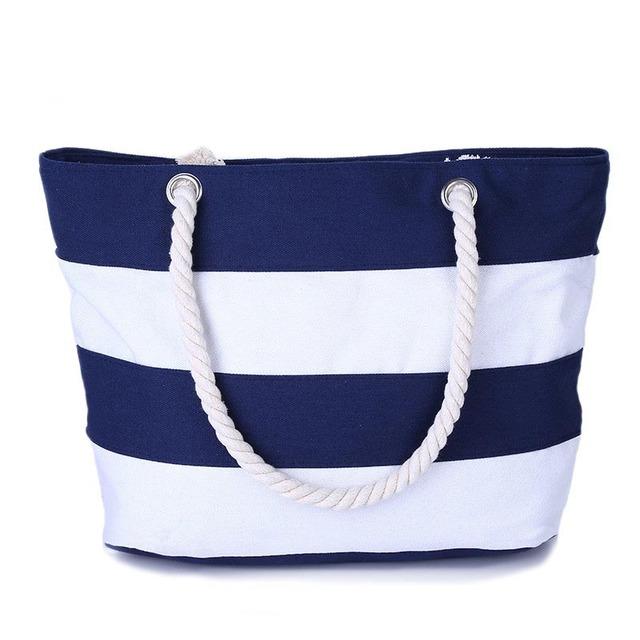 2017 Women Beach Canvas Bag Fashion Color Stripes Printing Handbags Ladies Large Shoulder Bag Totes Casual Bolsa Shopping Bags