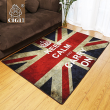 Alfombra CIGI con diseño de estilo británico americano, cómoda alfombra de tela de nailon, alfombra Vintage, alfombra antideslizante para cocina, baño, dormitorio