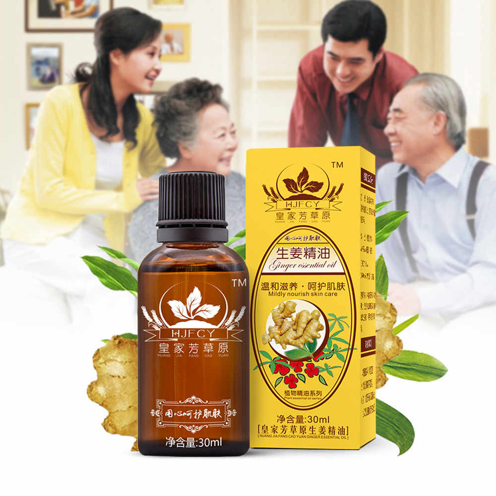30ML huiles essentielles naturelles pures beauté Anti-âge Drainage lymphatique huile de gingembre corps SPA Relax huiles de Massage huiles Esenciales