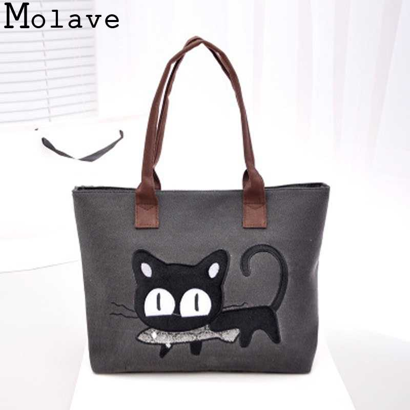 ab8b8d6c9235 Hot Sale!Girls High Quality Fashion Lady Canvas Cute Cat Handbag Women  Purse Shoulder Bag
