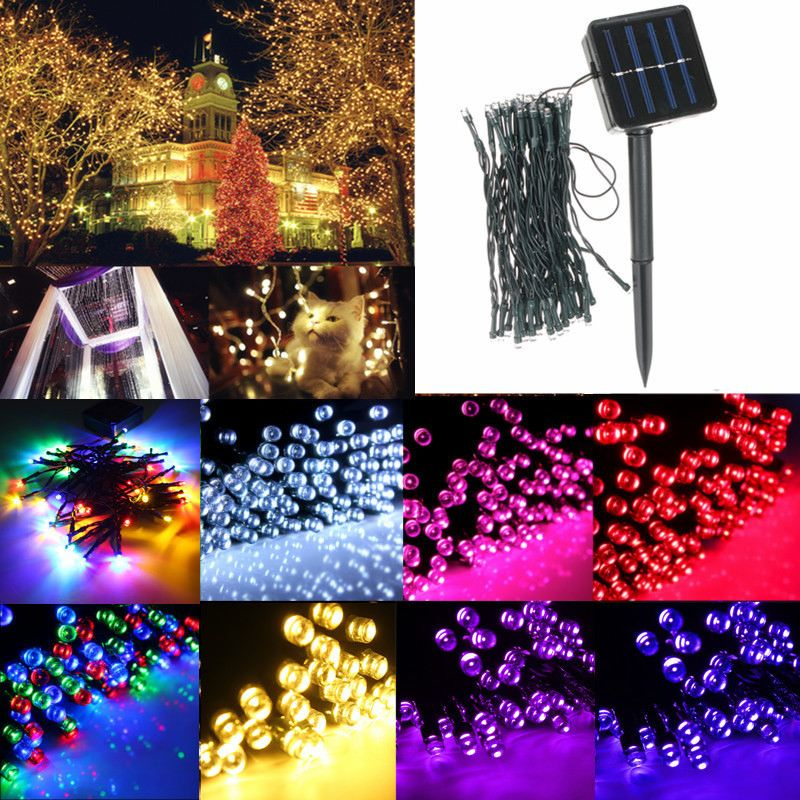5.2M 2V Solar Powered 50 LED Fairy String Lights Waterproof Indoor Outdoor Yard Garden Path Christmas Colorful Lamp