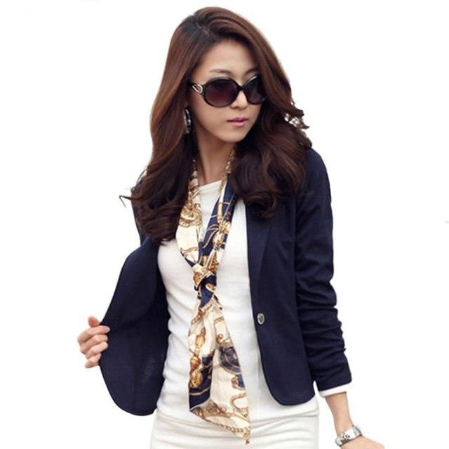 f86127b3d6 Femmes veste printemps femmes Blazer manteau mode décontracté veste à  manches longues un bouton costume dames
