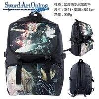 Haute qualité durable nylon sac anime Épée art en ligne kirito asuna modèle sac à dos AB122