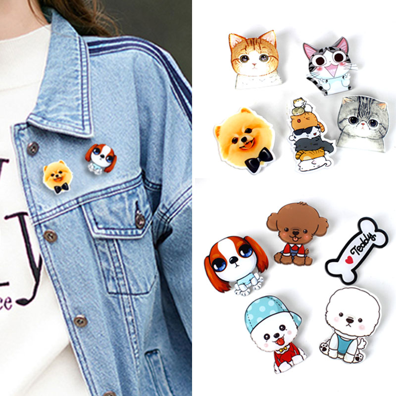 Honest 1 Pcs Cartoon Cat Pearl Pendant Metal Brooch Button Pins Denim Jacket Pin Jewelry Decoration Badge For Clothes Lapel Pins Year-End Bargain Sale Badges Apparel Sewing & Fabric