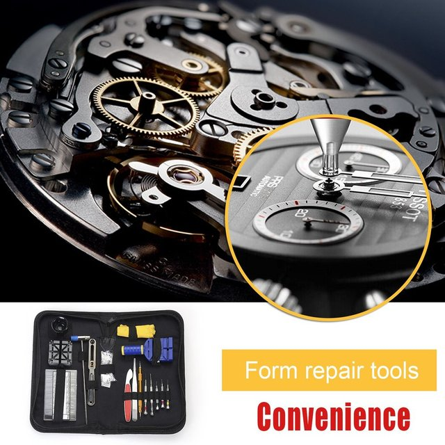 16pcs/set Luxury Watch Repair Tool Kit Watch Band Holder Case Opening Knife Band Link Pin Remover Sets Herramientas de relojeria