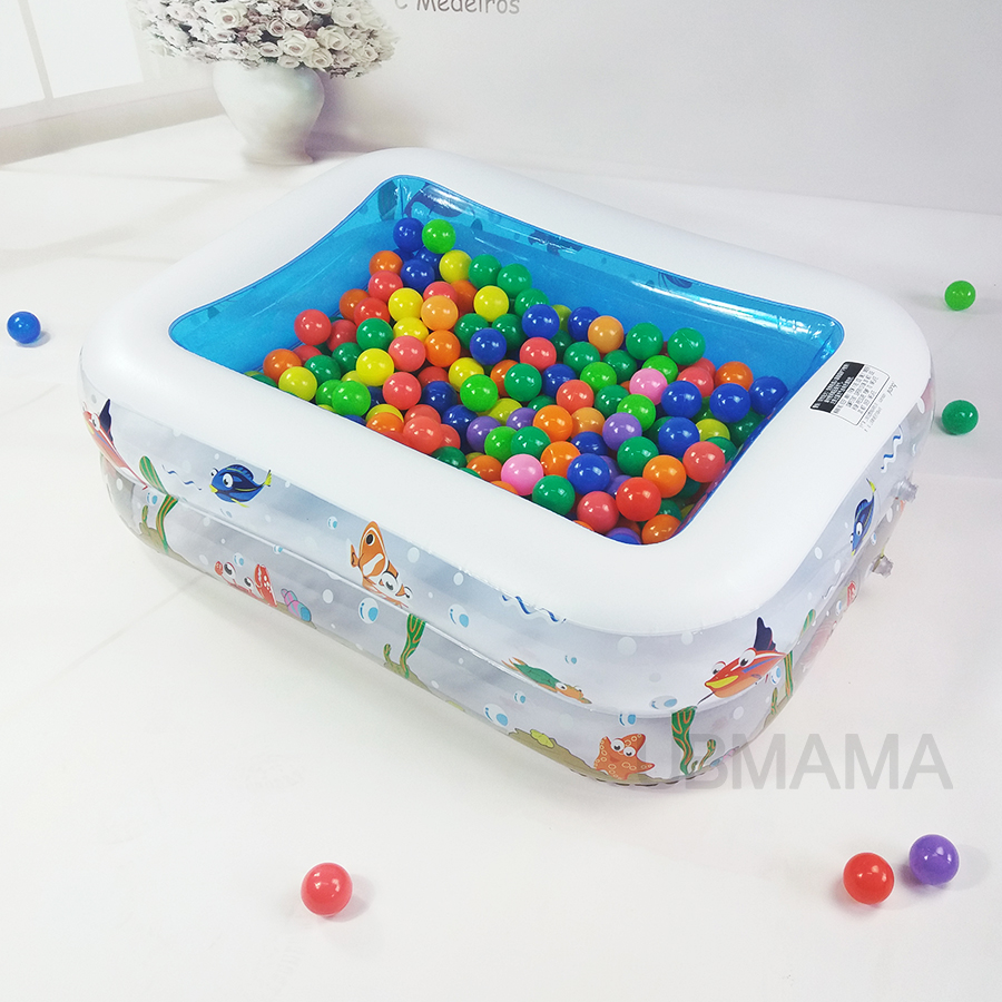 Double layer Plastic Inflatable Square Underwater world pattern baby Ball pool Childrens toy storage pool child piscina pool