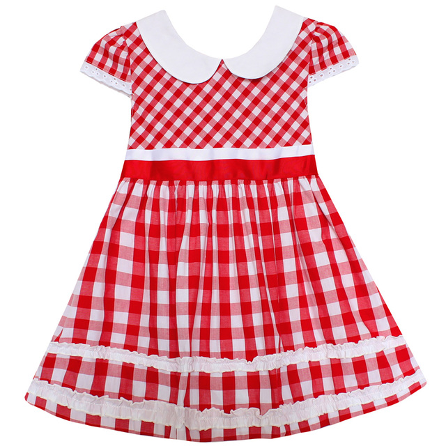 Shybobbi Girls Dress Red Tartan Sundress Plaid Party Christmas ...