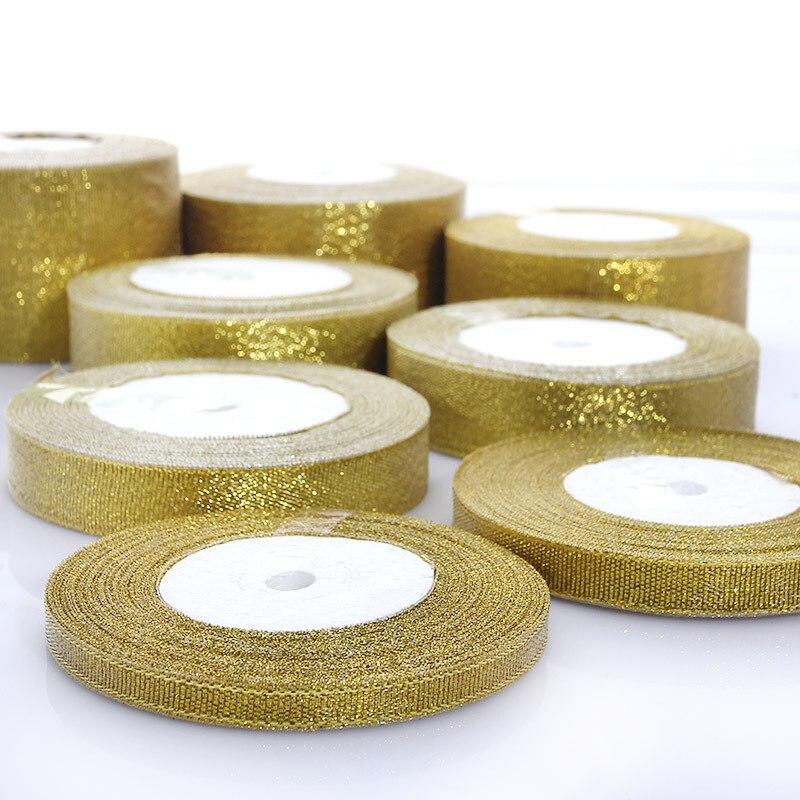 1 STKS Goud Zilver Lint Kerst Verpakking Lint Cadeaupapier Bruiloft - Kunsten, ambachten en naaien