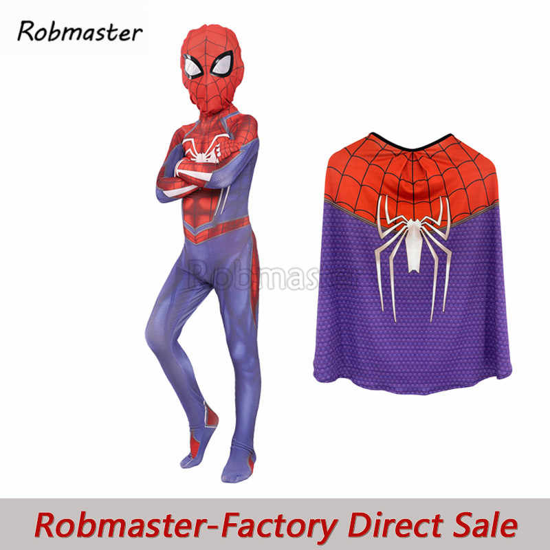 Game PS4 Insomniac Spiderman Kostuum Lycra Spidey Spiderman Cosplay Avengers Spider-man Kostuum Bodysuit Pak voor Kinderen Jongen