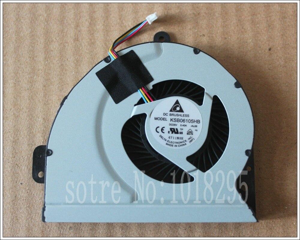 Refroidisseur d'ordinateur portable ventilateur pour ASUS A43 K53S A53S K53SJ P53SJ K43X K43E K43S X43 K43SJ A83 A84S X84C K84L KSB06105HB X44H K43 X54H
