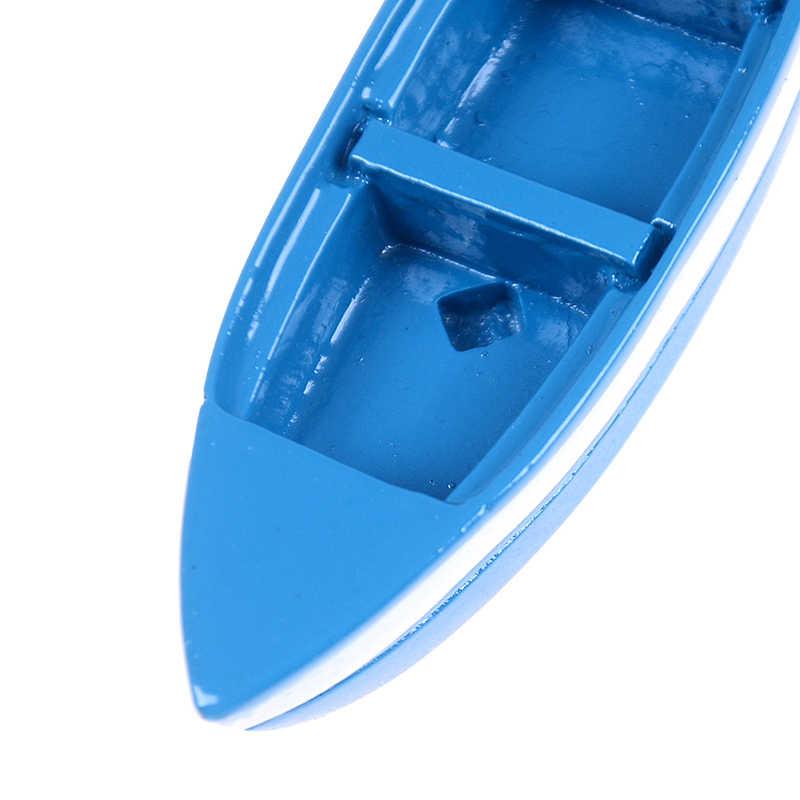 6*2*1 cm Sáng Tạo Nhựa Màu Xanh Mini Thuyền Trang Trí Bức Tượng Cảnh Quan Nhà Tinh Tế