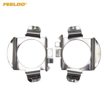 FEELDO 2Pcs Auto LED Headlight H7 Sokets Adaptor Holder For Mercedes Benz B-Class / C-Class / ML Class Ford Edge Lamp Base #5535 image