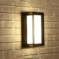 BEIAIDI 18W Modern Surface Mounted Led Wall Light Outdoor Pathway Porch Light Waterproof Villa Aisle Garden Exterior Wall Sconce