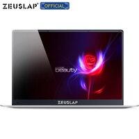 ZEUSLAP 15,6 дюймов Intel четырехъядерный процессор 4 ГБ ОЗУ 64 Гб EMMC Windows 10 система 1920*1080 P ips экран нетбук ноутбук компьютер