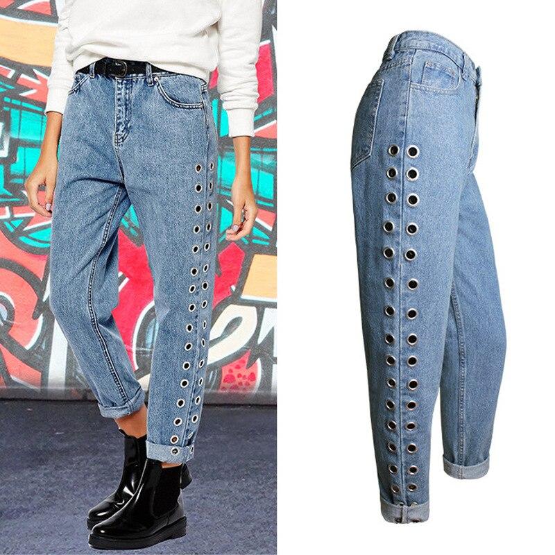 2017 New Brand Boyfriend High Waist Jeans