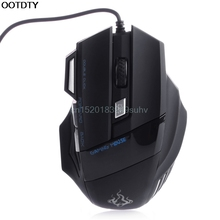 Mouse 5500 DPI 7 Button LED Optical USB Wired Gaming Mice Mouse For Profession Gamer #L059# new hot