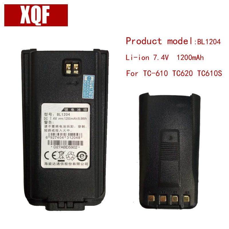 Original BL1204 Li-on 7.4V 1200mAH Battery For Hytera HYT Radio TC-610,TC-618,TC-620,TC-626,TC-610P Walkie Talkie