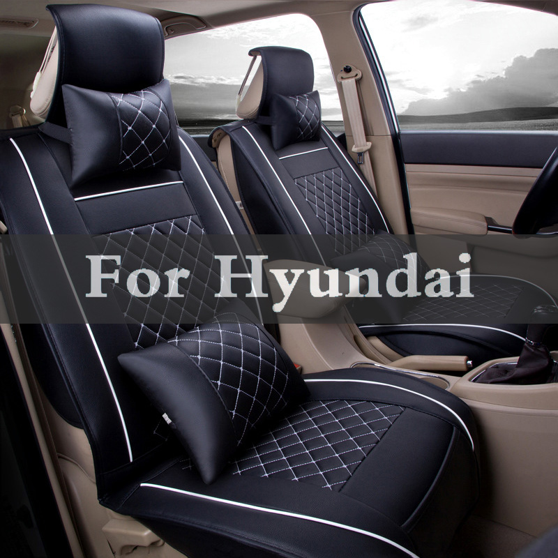 Pu Leather Car Seat Cover Front And Back Set Car Cushion Pad Mat For Hyundai Coupe Dynasty Elantra Equus Genesis Veloster for mercedes benz c200 e260 e300 a s series ml350 glk brand leather car seat cover front and back complete set car cushion cover