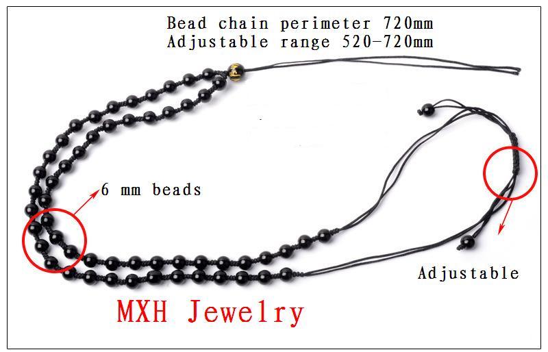Black Obsidian Cross Necklace
