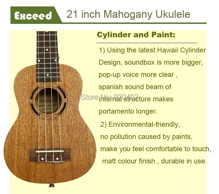 21 zoll Mahagoni Ukulele Akustische Gitarre Sopran Hawaii Ukelele - Musikinstrumente - Foto 3