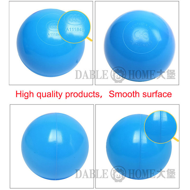200 PCS/bag Outdoor Sport Ball Colorful Soft Water Pool Ocean Wave Ball Baby Children Funny Toys Eco-Friendly Stress Air Ball 1