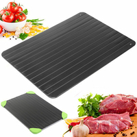 1Pc Kitchen Gadget Tool Fast Defrosting Tray Chopping Board Rapid Safety Thawing Tray Quick Thawing Plate For Frozen Food Meat|Defrosting Trays| |  -