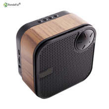 Wood Bluetooth Speakers Loudspeaker Boxes with Card Insertion FM Radio Answer the Calls Function Bluetooth Receiver Speaker