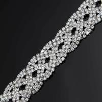 100 ярдов 2 см цепь со стразами серебряный тон Клей пришить костюм декоративный ювелирные аксессуары