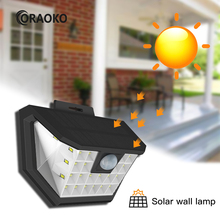 Solar Led Light Outdoor Mensor Night Security Wall Lamp 28 Led Waterproof For Wall Driveway Patio Yard Garden