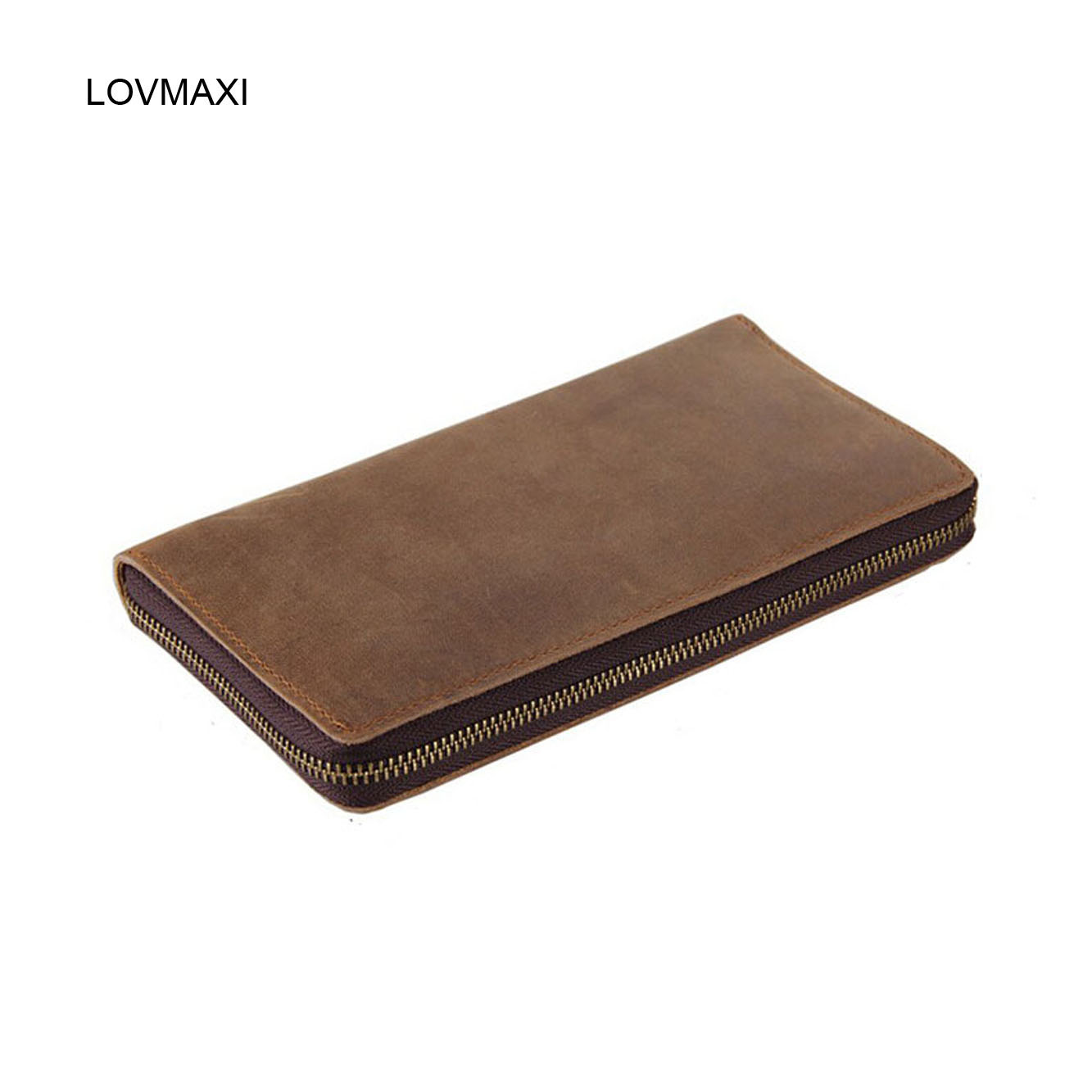 ФОТО Russia style Male vintage clutch bags simple slim design Polished leather clutch bag men crazy horse leather purse 8050