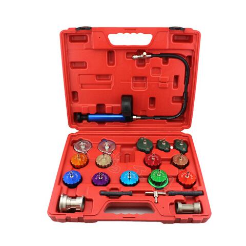 21 pcs Universal Kit Verificador de Pressão Do Radiador Do Carro Tanque de Água detector de vazamento
