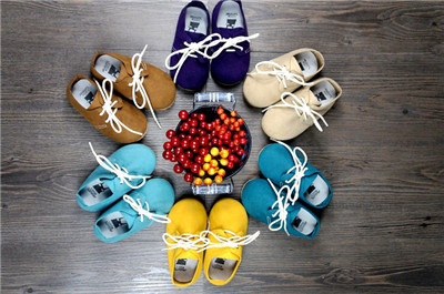 Free shipping First Walkers Genuine Leather Baby shoes indoor non-slip Toddler Baby moccasins lace-up bebe Shoes