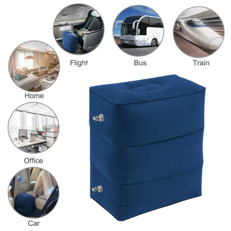 Multifunction Inflatable Portable Travel Footrest Pillow Cushion Airplane Train Car Adult Kids Sleeping Bed Foot Rest Pad Chair