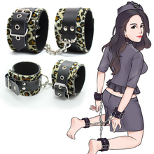 цена на Handcuffs Fetish Bondage Restraints Kit PU Leather Wrist Hand Cuffs Ankle Cuffs Studded Anklecuffs BDSM Sex Toys For Couple