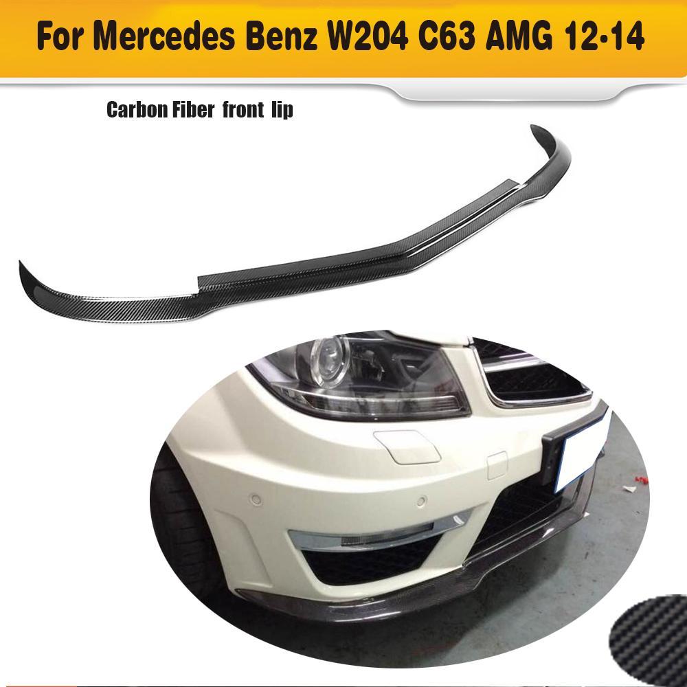 New Glass Black Godhand Bumper Front Lip Spoiler For Mercedes BENZ W204 Facelift