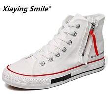 b9f52bf04f3483 Witte hoge top sneakers mannen designer sneakers mode Hoge bovenste canvas schoenen  herfst zomer schoenen skate