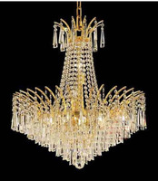Palace Empire Gold Crystal Chandelier Light Modern Chrome Chandelier Light Diameter 48cm 60cm Or 80cm Free