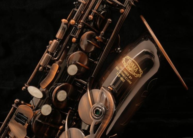 TAYAKA TAS-860 Purple Copper Professional Level Alto Saxophone Antique Eb Sax Western Instruments