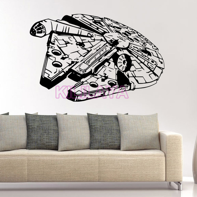 star wars spaceship vinyl wall decal wall stickers for. Black Bedroom Furniture Sets. Home Design Ideas