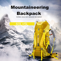60 65 L Outdoor Camping Backpack Waterproof Professional Men Women Mountain Hiking Travel Sports Bike Bag
