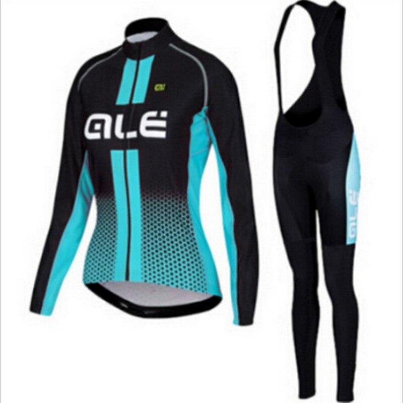 ALE с длинным рукавом 2016 будет велосипед Джерси Велосипеды одежда велосипед одежды во время Весна Ropa Ciclismo спортивной женщины Джерси комплект