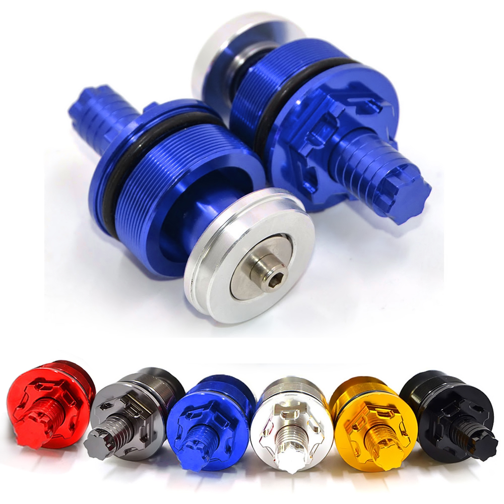 AFB-YA001-BL Motorcycle Aluminum Blue CNC Preload Fork Cap Adjusters For Yamaha YZF R3 15-17 YZ R25 2013-2017 YZF-R3 ABS(2017)