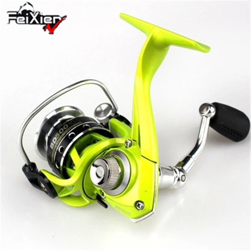 SHUNMIER BD500 Multi 5 + 1BB 5.2: 1 Metal Wire Cup Rocker Arm Spinning Fishing Reels Pesca Carretilha Para Molinete Peche Wheel