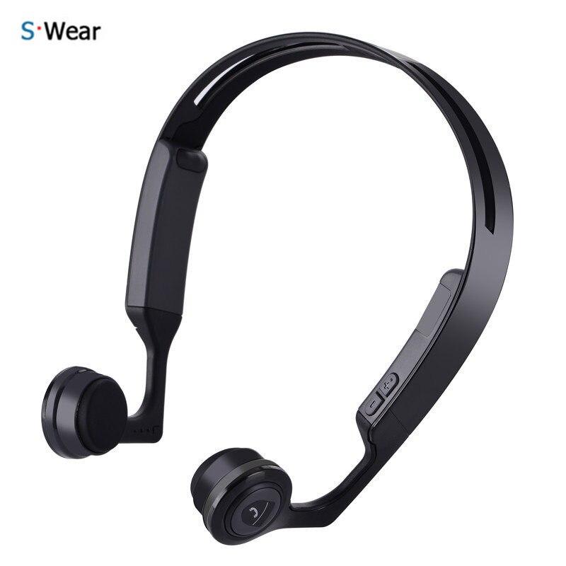 Original S.Wear 2017 Newest Mix8 Wireless Bluetooth Headphones Bone Conduction Stereo Headset Headphones with Microphone wireless bone conduction bluetooth 4 1 headset sports headphones with separate wiring diagram