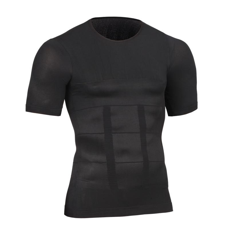Hot Men Shaper Vest Body Slimming T shirt Male Belt Modeling Strap Tummy Belly Waist Girdle Compression Shirt Shapewear 1