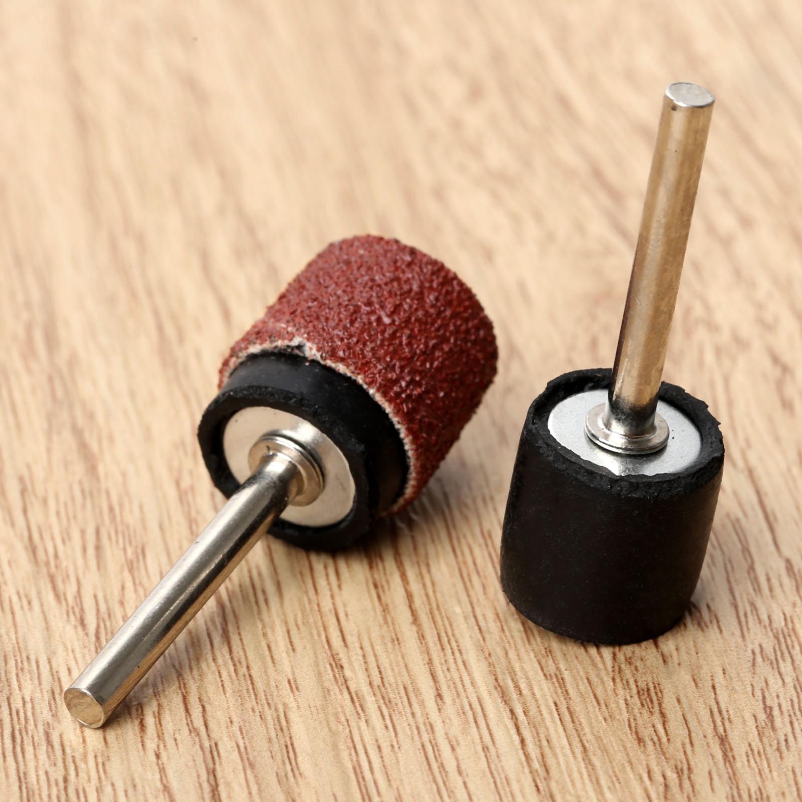 10Pc Accessori Dremel Mandrino in gomma tamburo 6,35 mm Asta da 2,35 - Utensili abrasivi - Fotografia 4