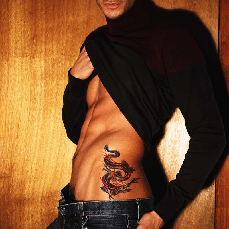 SHNAPIGN Màu Trung Quốc Dragon Temporary Tattoo Body Art Cánh Tay Flash Dán Hình Xăm 17*10 cm Không Thấm Nước Fake Henna Không Đau Sticker