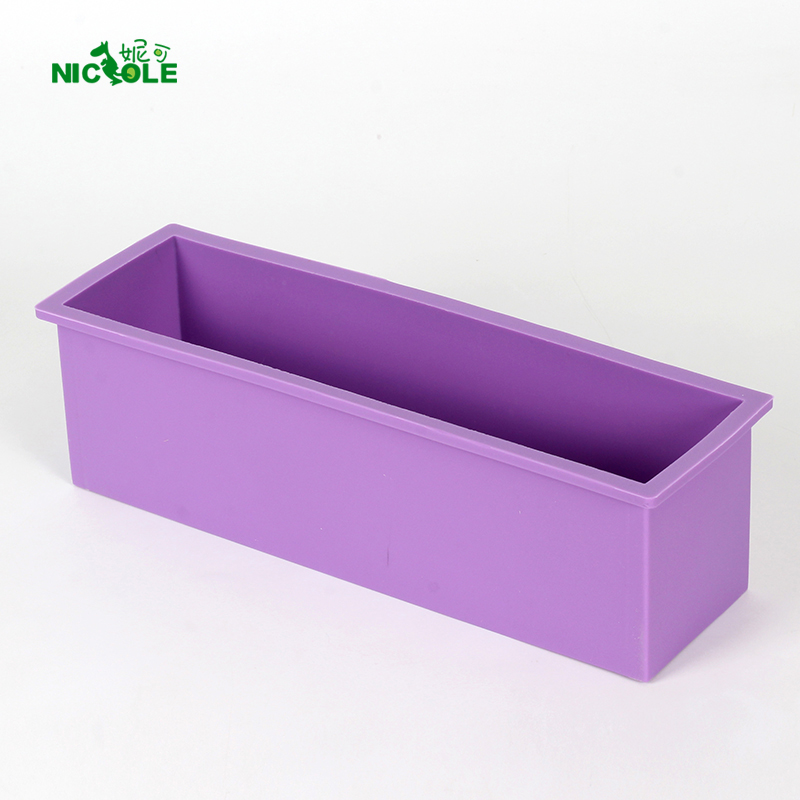 Nicole Rectangle Silicone Soap Mold White Handmade Loaf Mould With